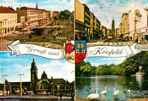 Krefeld Rheinstrasse Ostwall Hauptbahnhof Kat. Krefeld