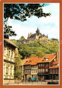 Wernigerode Harz mit Feudalmuseum Schloss Wernigerode Kat. Wernigerode