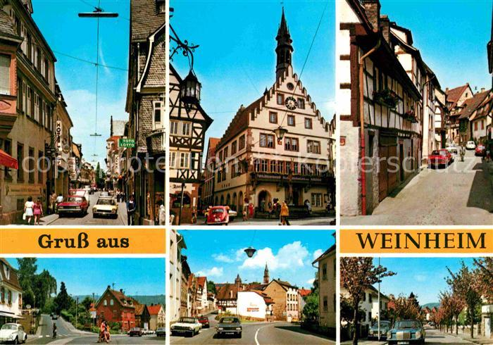 weinheim bergstrasse orstpartien kat weinheim nr kv61919 oldthing ansichtskarten. Black Bedroom Furniture Sets. Home Design Ideas