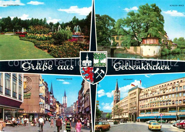 Gelsenkirchen Stadtgarten Schloss Neumarkt Bahnhofstrasse Kat. Gelsenkirchen