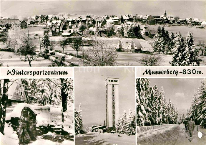 Masserberg Gesamtansicht Wintersportzentrum Aussichtsturm Langlauf Waldpartie Kat. Masserberg