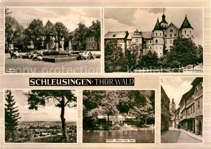 Schleusingen Markt Bertholdsburg HOG Haus am See