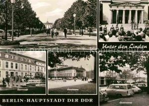Berlin Brandenburger Tor Mahnmal Lindencorso Staatsoper Operncafe Hauptstadt der DDR Kat. Berlin