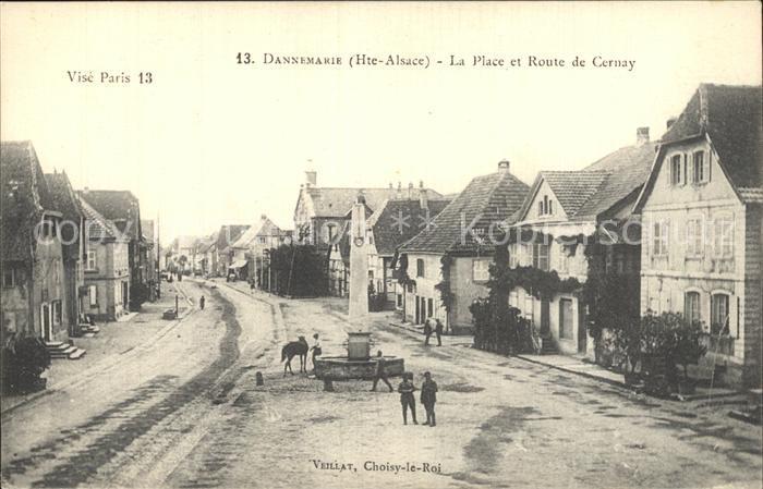 Dannemarie Haut Rhin La Place Route de Cernay Kat. Dannemarie