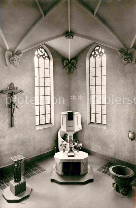 Freudenstadt Taufstein Lesepult Kruzifix evangelische Stadtkirche Kat. Freudenstadt