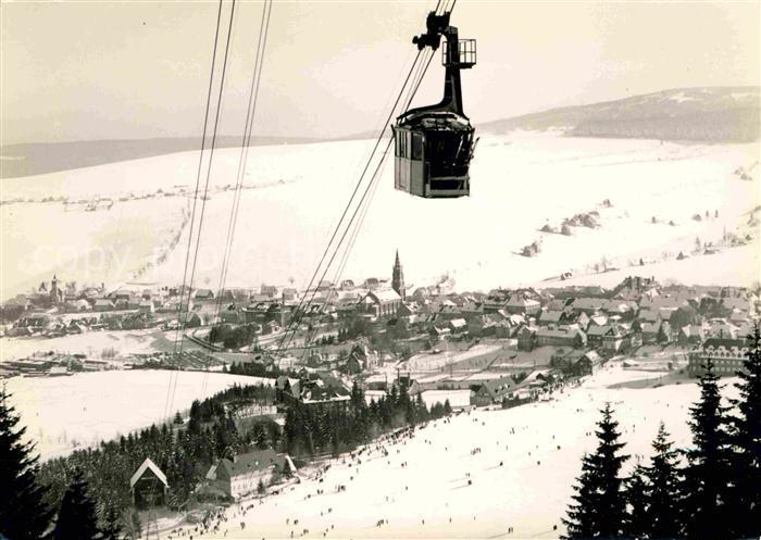 Oberwiesenthal Erzgebirge Bergbahn Fichtelberg Winterpanorama Kat. Oberwiesenthal