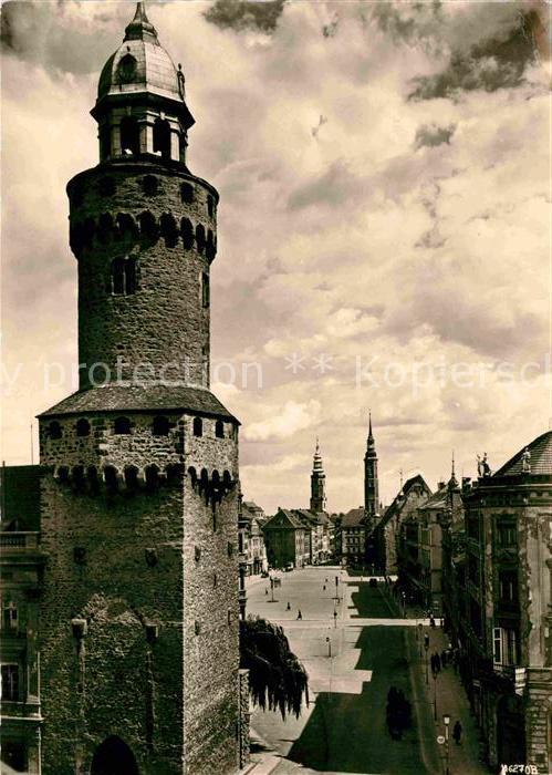 Goerlitz Sachsen Reichenbacher Turm Leninplatz vom Kaisertrutz Kat. Goerlitz