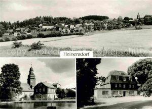 Heinersdorf  Lobenstein Ortsansicht mit Kirche Kat.
