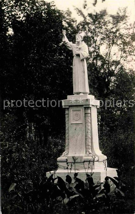 Detroit Michigan St Francis Statue Duns Scotus College Kat. Detroit