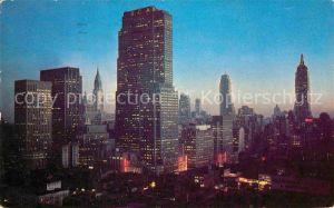 New York City Manhattan RCA Bldg Chrysler Bldg and Empire State Bldg