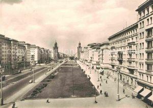 Berlin Stalinallee Blick nach Westen Kat. Berlin