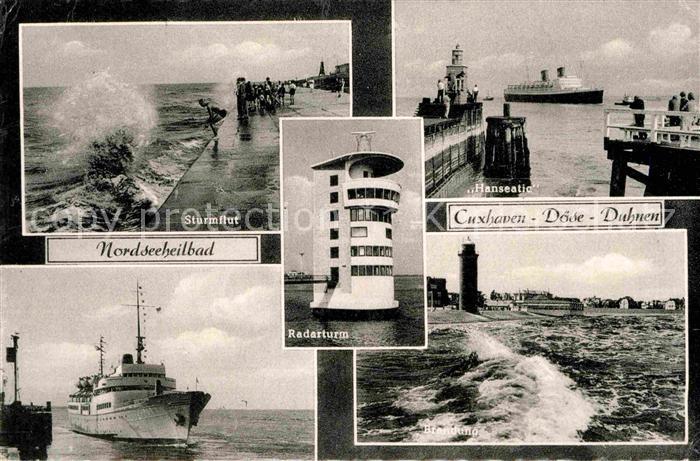 Cuxhaven Doese Nordseebad Duhnen Radarturm Sturmflut Hanseatic Brandung