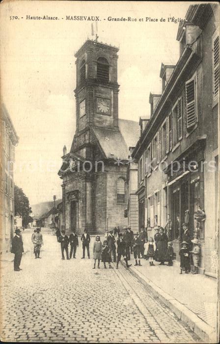 Alsace Elsass Haute Massevaux Grande Rue Kichplatz Kat. Epinal