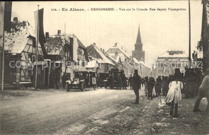Dannemarie Haut Rhin Grande Rue depuis occupation Kat. Dannemarie