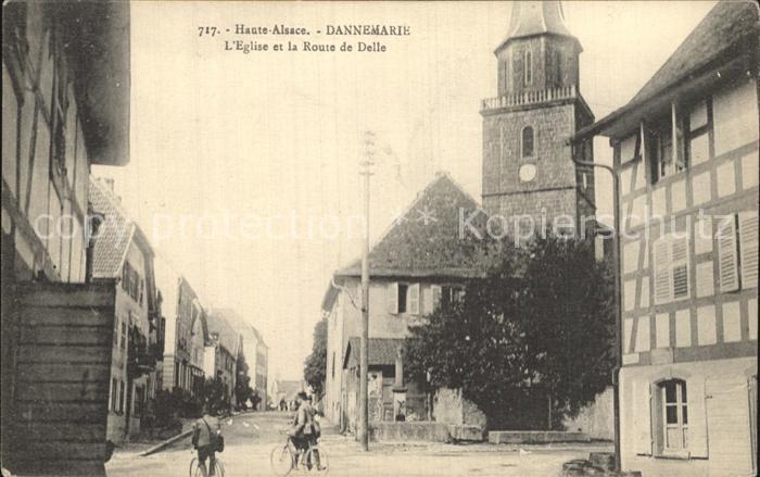 Dannemarie Haut Rhin Kirche Route de Delle Kat. Dannemarie