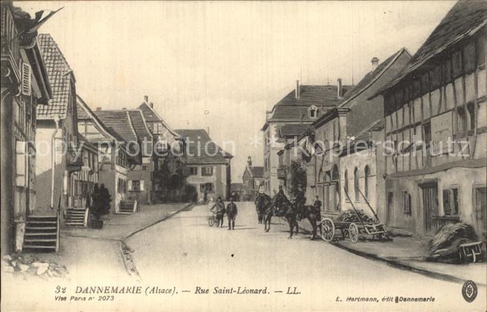 Dannemarie Haut Rhin Rue Saint Leonard Kat. Dannemarie