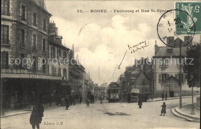 Rodez Faubourg Rue Syre Kat. Rodez