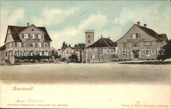 Amrisweil TG Gasthaus Kirche Brauerei