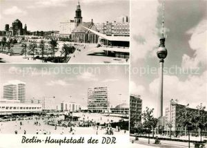 Berlin Platz vorm Rathaus Alexanderplatz Fernsehturm  Kat. Berlin