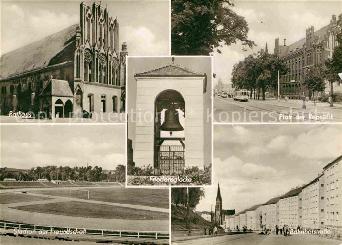 Frankfurt Oder Rathaus Platz der Republik Stadion der Freundschaft Kat. Frankfurt Oder