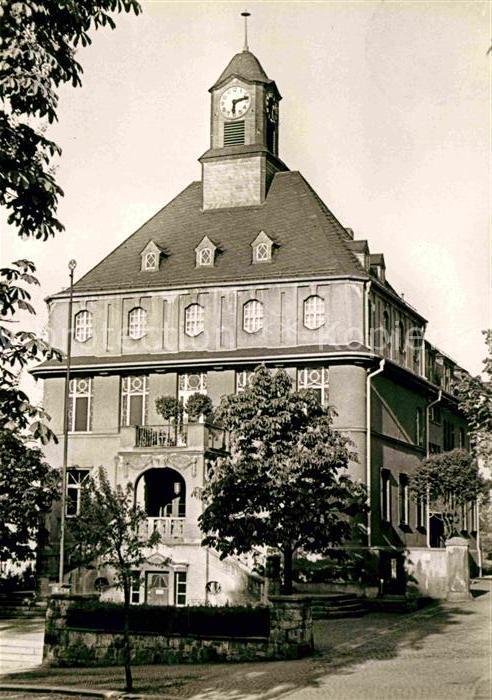 Lugau Erzgebirge Rathaus Kat. Lugau Erzgebirge