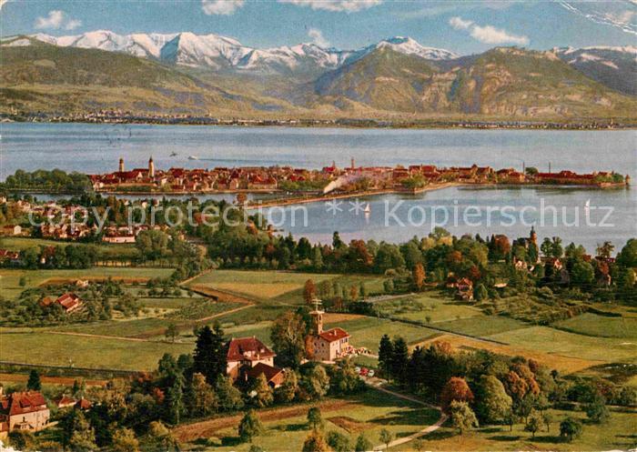 Lindau Bodensee Blick vom Hoyerberg Kat. Lindau (Bodensee)