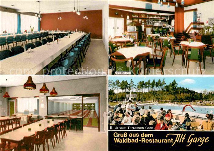 Alt Garge Waldbad Restaurant Freibad Kat. Bleckede
