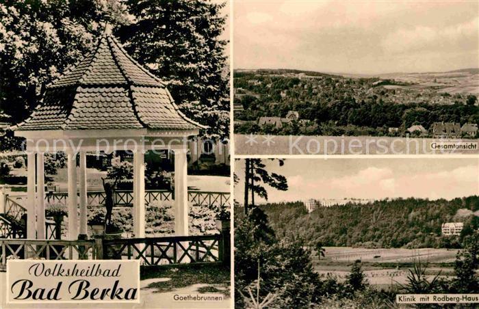 Berka Bad Volksheilbad Klinik Rodberg Haus Goethebrunnen Kat. Bad Berka