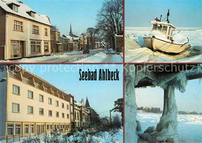 Ahlbeck Ostseebad Lindenstrasse Fischerboot Ferienheim Frithjof FDGB Ferienheim Kurt Buerger Kat. Heringsdorf Insel Usedom