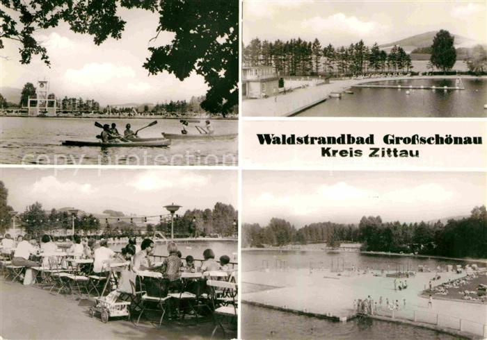 Grossschoenau Sachsen Waldstrandbad Teilansichten Kat. Grossschoenau Sachsen