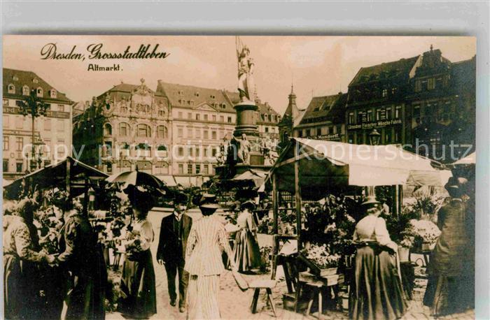 Dresden Altmarkt Stadtleben Repro Kat. Dresden Elbe
