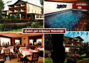 Rott Westerwald Hotel zur schoenen Aussicht Kat. Rott