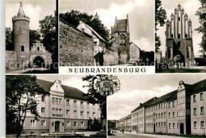 Neubrandenburg Neues Tor Friedlaender Tor Stargarder Tor Kat. Neubrandenburg