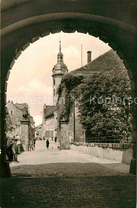 Torgau Blick vom Schlosstorbogen nach der Schlossstrasse Kat. Torgau