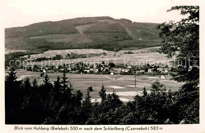 Czorneboh Blick vom Huhberg Kat. Cunewalde
