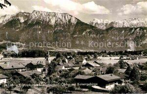 Niederaudorf mit Kaisergebirge Kat. Oberaudorf