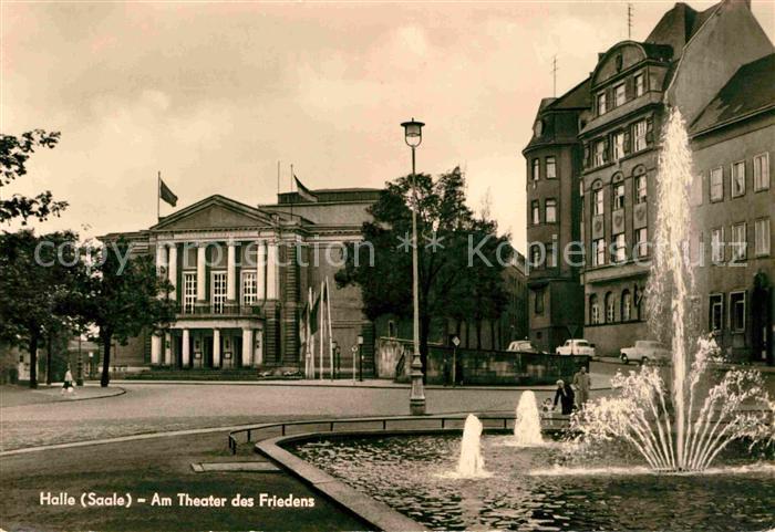 Halle Saale Am Theater des Friedens Kat. Halle
