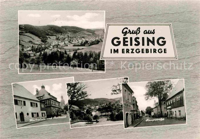 Geising Erzgebirge Marktplatz Rathaus Hauptstrasse Kat. Geising Osterzgebirge
