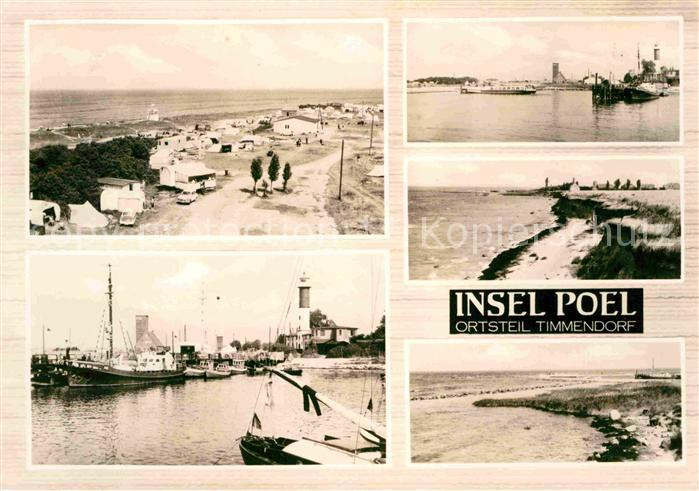 Poel Insel Hafen Leuchtturm Strand Kat. Insel Poel