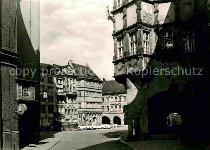 Goerlitz Sachsen Untermarkt mit Schoenhof Kat. Goerlitz