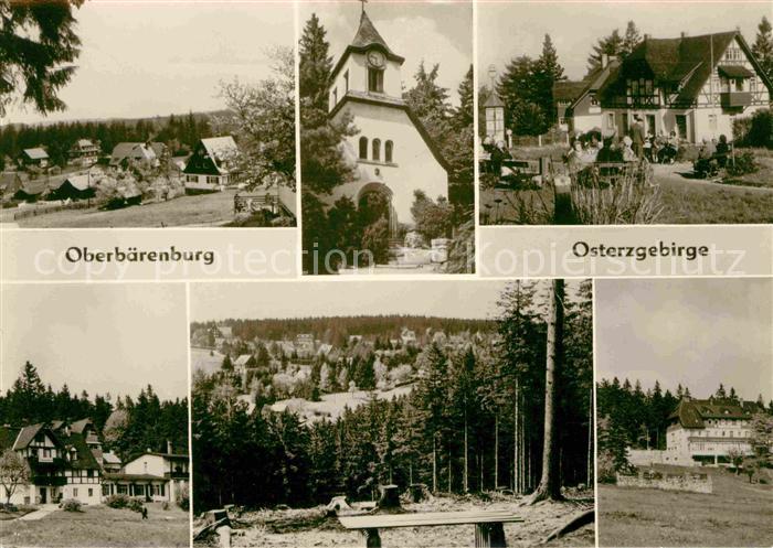 Oberbaerenburg Teilansichten Kirche Waldpartie