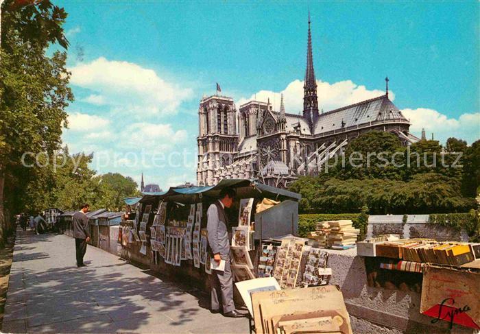 Paris Notre Dame de Paris et les Bouquinistes Kat. Paris
