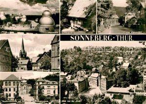 Sonneberg Thueringen Sternwarte Lutherhaus OT Koeppelsdorf Oberlind Beethovenstr Spielzeugmuseum Drehblick Kat. Sonneberg