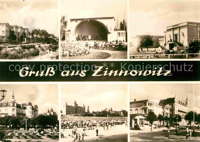 Zinnowitz Ostseebad Konzertplatz Strand Hotels