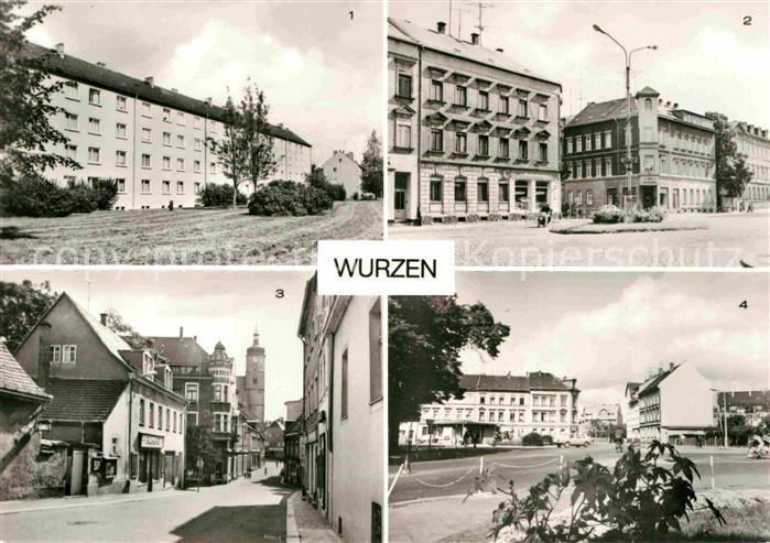 Wurzen Sachsen Lueptitzer Strasse Friedrich Engels Platz Wenceslaigasse Kat. Wurzen