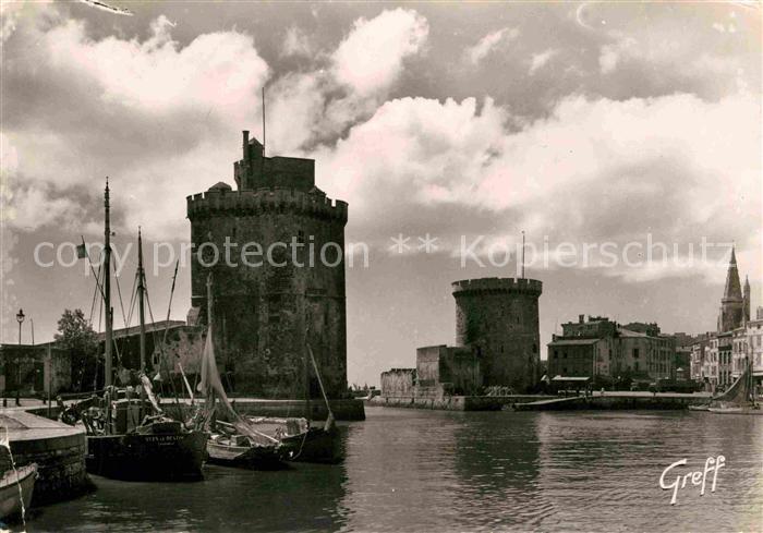 La Rochelle Charente Maritime Les Tours de St Nicolas de la Chaine et des Quatre Sergents Kat. La Rochelle