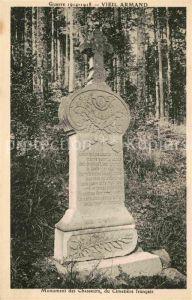 Hartmannswillerkopf Vieil Armand Monument des Chasseurs Cimitiere Francais  Kat. Hartmannswiller