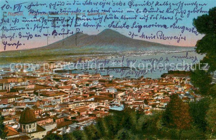 Napoli Neapel Panorama Hafen Kat. Napoli