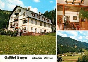 Strassen Tirol Gasthof Lenzer  Kat. Strassen