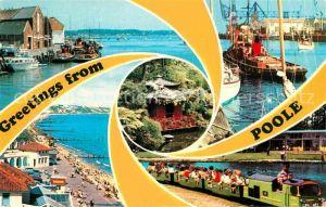 Poole Hafen Strand Parkeisenbahn Kat. Poole